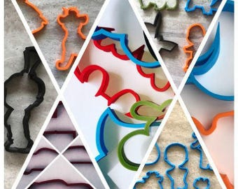 Cookie Cutters - Choose any 8 - Outline Only