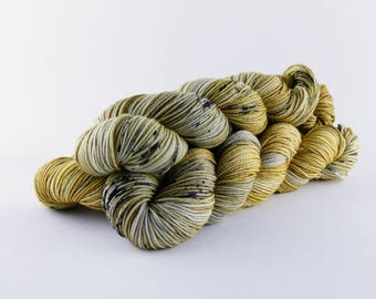 "Hand Dyed Yarn ""Pyrite"" Colorway"
