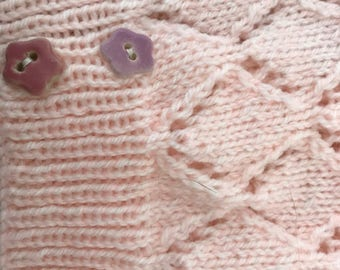 Short Sleeved Lacy Stitch Crossover Cardigan
