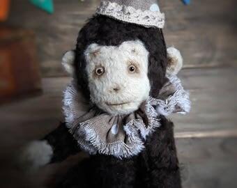 Monkey, teddy monkey, stuffed jointed animal