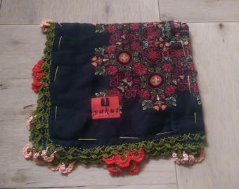 10 percent OFF FREE Shipping, Traditional Turkish Oya, Multicolored Scarf, Tığ Oya, Turkish lace 4