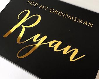 Small Personalised Bridesmaid, Groomsman, proposal gift box