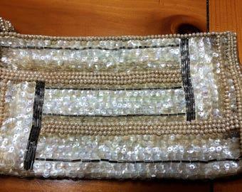 Vintage Beaded Evening Bag or Make-up Purse