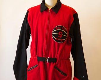 Big Red S high school varsity jacket.