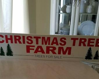 "Hand painted ""Christmas Tree Farm"" sign"
