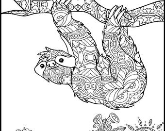 Adult Coloring Pages Etsy Coloring Pages For Adults