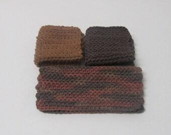Crochet Washcloths Dishcloths Cleaning Cloths Bath cloths 100% Cotton