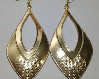 Teardrop  gold Earring,