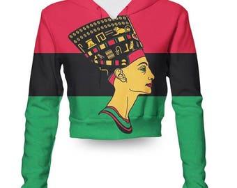 Queen Nefertiti Croptop Hoodie