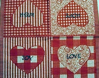 Hearts paper towel