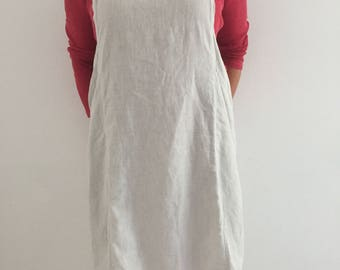 Apron made of 100% organic linen