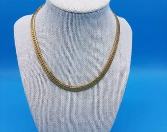 Gold Tone Monet Chain Necklace (1980's)