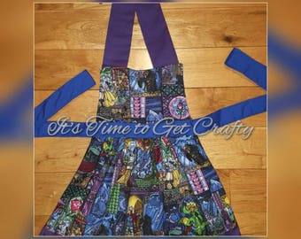 Beauty and the Beast Stained glass apron