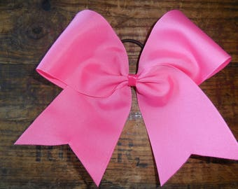 "3"" Bright Pink-Cheer Bow-Breast Cancer Bow"