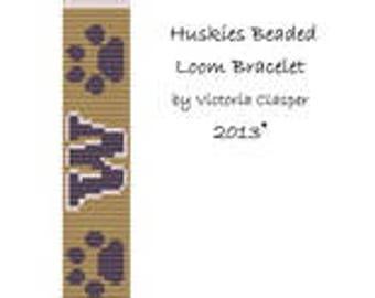 Huskies Bead Loom Bracelet by Vikiscustomdesigns