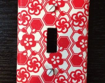 Origami Decoupage Switch Plate