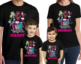 Monster High Birthday Shirt Personalized Name and Age Monster High Birthday shirt