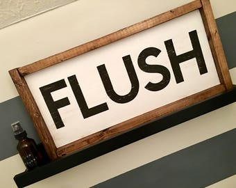 Flush Wood Sign (4 Stain Options)