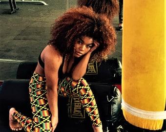 Activewear African Print Leggings / Yoga Pants / Wax Print / Ankara - Nsoramma