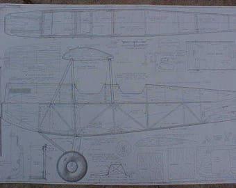 DeHavilland Gipsy Moth Model Airplane Plan 90 Inch wing span