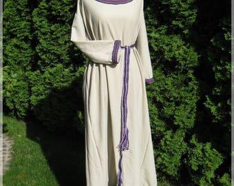 Medieval slavic vikings | dress with ribbon