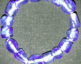 Swirl Glass Bead Elastic Bracelet