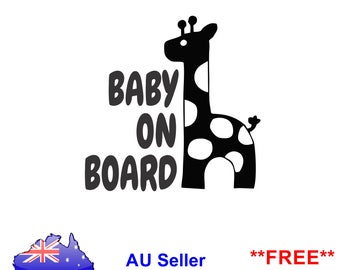Baby On Board Sign Safety Window Sticker Car Decal