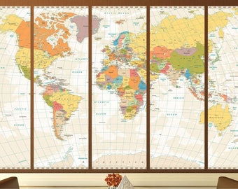 Extra large map etsy detailed world mapextra large mapanniversary giftschristmas gift map world gumiabroncs Image collections