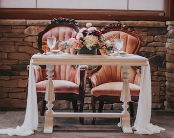 silk runner,  chiffon table runner, wedding table linen, wedding table decor, table runner, table decor, silk ribbon, tablecloth, wedding