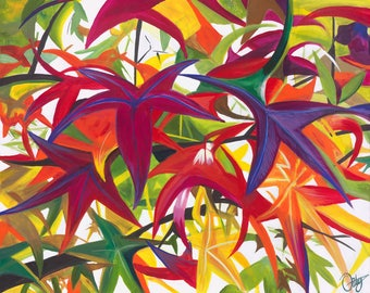 Giclee Print - Summers End - Colourful