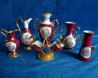Limoges miniature porcelain 7 PCs 11-piece