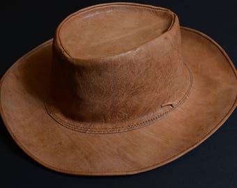 leather cowboy hats for women