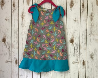 Bird Tie Top Dress