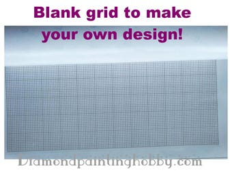 Blank grid to design a diamond painting yourself. diamond painting, 3d painting, diy kits, Free shipping! 3D Embroidery set Cross Stitch