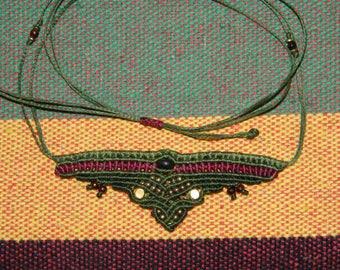 Unique Macrame necklace