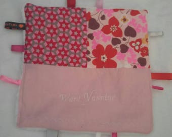 Customizable soft baby taggy