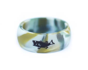 INSTYNCT Men's Silicone Ring for Fishermen and Outdoorsmen (Camo Color)