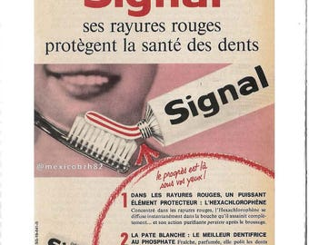 vintage 50s-60s puiblicite toothpaste signal