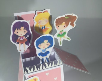 Sailor Moon 3D pop up card