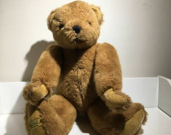 Merry Thought Vintage Bear, Made in England.