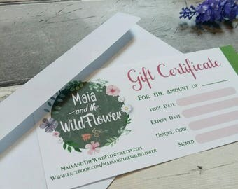 Gift Certificate, Jewellery gifts, Christmas gift ideas, daughter present, jewelry voucher, gift cards xmas, earrings necklace for her