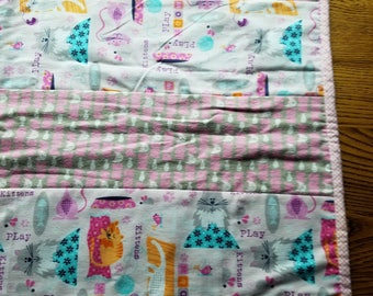 Meow toddler blanket soft flannel fleece