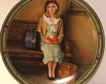 """Vintage Norman Rockwell's American Dream """" A Young Girl's Dream"""" Collector Plate by Knowles"""