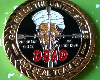9/11 Seal Team Six Bin Laden Dead Colorized Military Challenge Art Coin