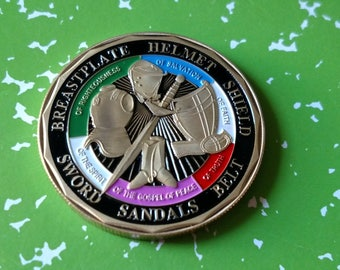 Armor of God Religious Challenge Art Coin - CHOOSE YOURS