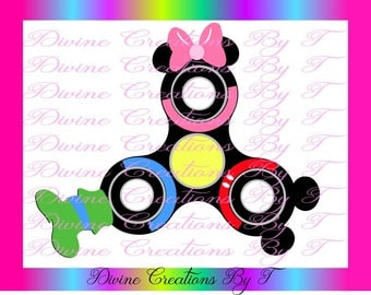 Mickey Mouse & Friends Fidget Spinner SVG (Made by me)