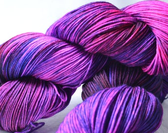 Hand dyed sock yarn - Disco