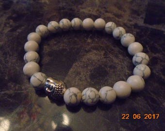 White Buddha bracelets
