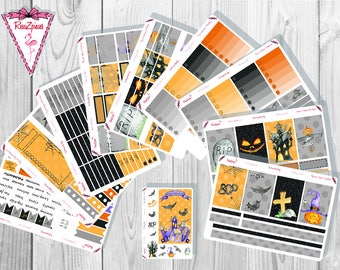 Gray Halloween Weekly Kit - Happy Planner