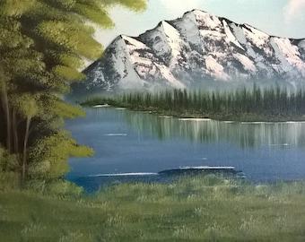 16x20 original autumn landscape oil painting